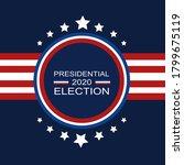 template of 2020 presidential...   Shutterstock .eps vector #1799675119