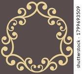 oriental vector pattern with...   Shutterstock .eps vector #1799693509