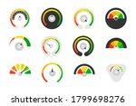 speedometer set. different... | Shutterstock .eps vector #1799698276