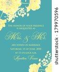 wedding invitation | Shutterstock .eps vector #179970596