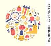 colourful vector set of... | Shutterstock .eps vector #1799707513