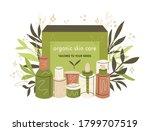 vector set of natural organic... | Shutterstock .eps vector #1799707519