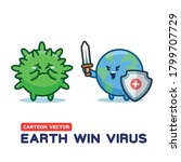 earth win global corona virus.... | Shutterstock .eps vector #1799707729