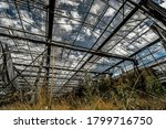 Abandoned Greenhouse With Glas...