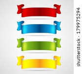 colorful ribbons set | Shutterstock .eps vector #179975294