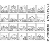 set of house icons.... | Shutterstock . vector #1799754736