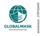 world mask vector logo template.... | Shutterstock .eps vector #1799763640
