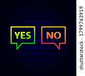 yes or no vector background...   Shutterstock .eps vector #1799763919