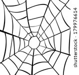 vector illustration of cobweb  | Shutterstock .eps vector #179976614