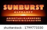 a bold art deco style alphabet...   Shutterstock .eps vector #1799773330