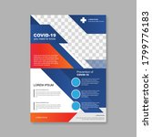 informative coronavirus flyer.  ... | Shutterstock .eps vector #1799776183