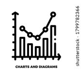 graph icon in trendy flat style ...