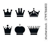 Set  Collection Of Black Crowns ...