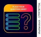 quiz template vector background ... | Shutterstock .eps vector #1799787736