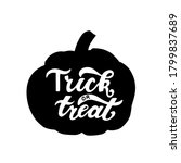 trick or treat phrase in... | Shutterstock .eps vector #1799837689