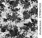 seamless digital snow polar... | Shutterstock .eps vector #1799847610