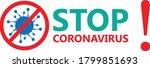 stop corona stop coronavirus... | Shutterstock .eps vector #1799851693