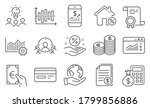 set of finance icons  such as... | Shutterstock .eps vector #1799856886