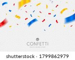 gold  red and silver confetti... | Shutterstock .eps vector #1799862979