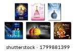 perfume product promotional...   Shutterstock .eps vector #1799881399