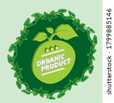 organic product 3d vintage...   Shutterstock .eps vector #1799885146