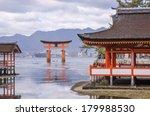 itsukushima shrine at miyajima  ... | Shutterstock . vector #179988530