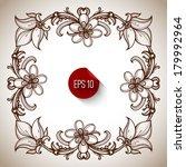 retro vintage calligraphic... | Shutterstock .eps vector #179992964