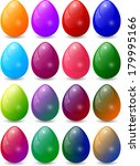 colorful egg set collection | Shutterstock . vector #179995166