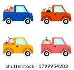 flat car collection whith... | Shutterstock .eps vector #1799954203
