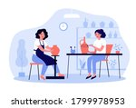 artists working on pottery....   Shutterstock .eps vector #1799978953