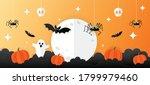Halloween Banner Vector.happy...