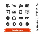 video recording icon set on... | Shutterstock .eps vector #179998136