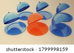 restaurant cloches. 3d rendered ... | Shutterstock . vector #1799998159