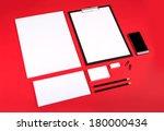Шаблон для брендинга идентичности.  Для графических дизайнеров презентаций и портфелей.  Stock Photo.