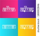 tram. subway. trolleybus. bus.... | Shutterstock .eps vector #180002846