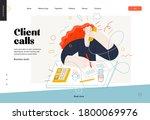 business topics   client calls  ... | Shutterstock .eps vector #1800069976