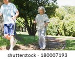 full length of a mature couple... | Shutterstock . vector #180007193