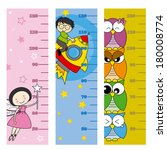 children height meter. fairy ... | Shutterstock .eps vector #180008774