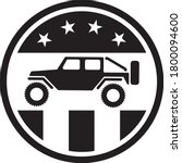 usa off road 4wd logo in black... | Shutterstock .eps vector #1800094600