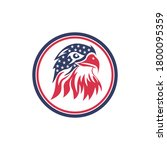 eagle or falcon logo template... | Shutterstock .eps vector #1800095359