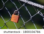 Red Love Padlock With Engraved...