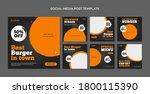 best burger in town social... | Shutterstock .eps vector #1800115390