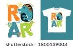 Cute Dinosaur Design Vector...