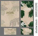 branding template tropical... | Shutterstock .eps vector #1800155290