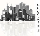 illustration of the silhouette... | Shutterstock .eps vector #180015929