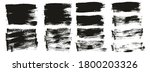 flat paint brush thin short mix ... | Shutterstock .eps vector #1800203326