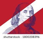 Benjamin Franklin Face On White ...