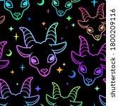 seamless multi colored goat... | Shutterstock .eps vector #1800209116