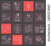 thin line icons set  hotel... | Shutterstock .eps vector #180021860