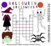 halloween crossword with answer ...   Shutterstock .eps vector #1800233116